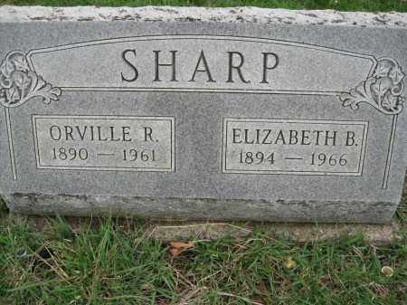 SHARP, ELIZABETH B - Fayette County, Ohio | ELIZABETH B SHARP - Ohio Gravestone Photos