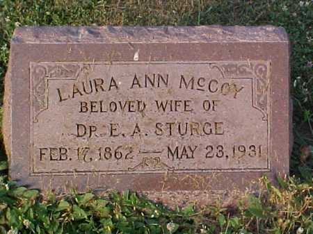 MCCOY STURGE, LAURA A - Fayette County, Ohio | LAURA A MCCOY STURGE - Ohio Gravestone Photos