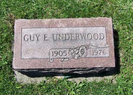 UNDERWOOD, GUY E. - Fayette County, Ohio | GUY E. UNDERWOOD - Ohio Gravestone Photos