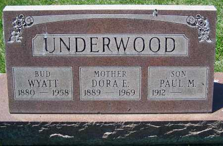 UNDERWOOD, DORA E. - Fayette County, Ohio | DORA E. UNDERWOOD - Ohio Gravestone Photos