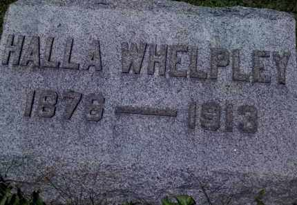 WHELPLEY, HALLA - Fayette County, Ohio | HALLA WHELPLEY - Ohio Gravestone Photos