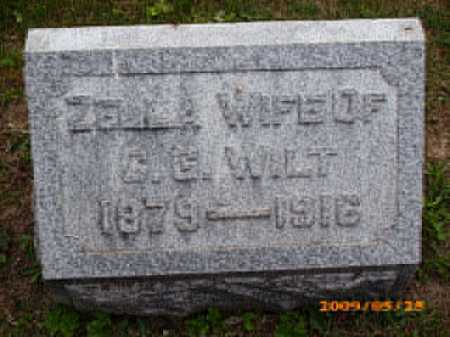STOUGHTON WILT, ZELLA - Fayette County, Ohio | ZELLA STOUGHTON WILT - Ohio Gravestone Photos