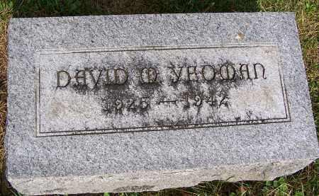 YEOMAN, DAVID M - Fayette County, Ohio | DAVID M YEOMAN - Ohio Gravestone Photos