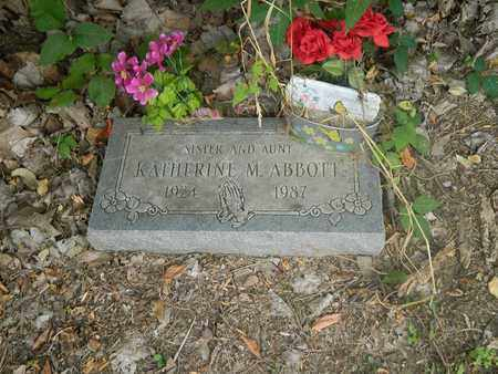 ABBOTT, KATHERINE M - Franklin County, Ohio | KATHERINE M ABBOTT - Ohio Gravestone Photos