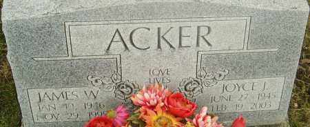 ACKER, JOYCE - Franklin County, Ohio | JOYCE ACKER - Ohio Gravestone Photos