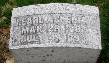 ACKERMAN, J. EARL - Franklin County, Ohio | J. EARL ACKERMAN - Ohio Gravestone Photos
