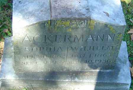 ACKERMANN, WILHELM - Franklin County, Ohio | WILHELM ACKERMANN - Ohio Gravestone Photos