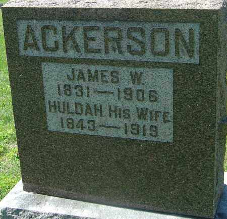 ACKERSON, JAMES W - Franklin County, Ohio | JAMES W ACKERSON - Ohio Gravestone Photos