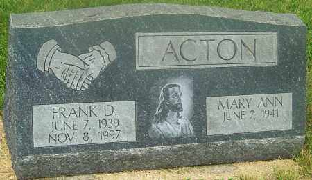 ACTON, FRANK - Franklin County, Ohio | FRANK ACTON - Ohio Gravestone Photos