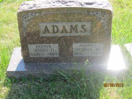 ADAMS, JOHN Q - Franklin County, Ohio | JOHN Q ADAMS - Ohio Gravestone Photos