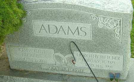 FLETCHER ADAMS, DOROTHY - Franklin County, Ohio | DOROTHY FLETCHER ADAMS - Ohio Gravestone Photos