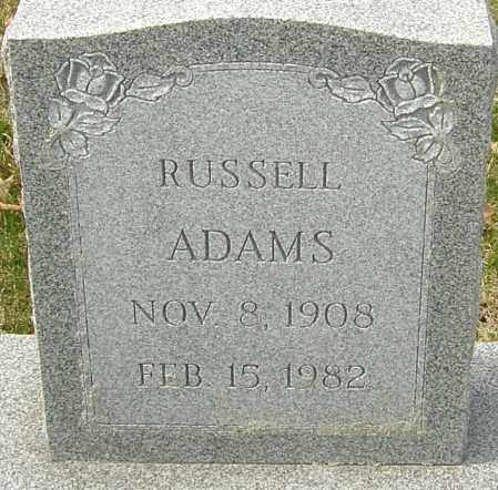 ADAMS, RUSSELL - Franklin County, Ohio | RUSSELL ADAMS - Ohio Gravestone Photos