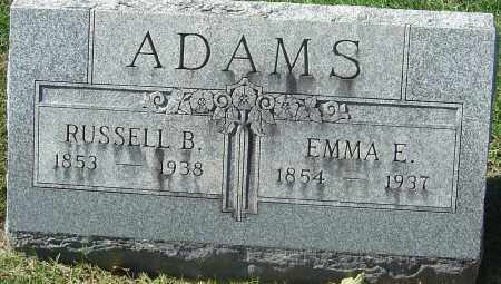 HANAWALT ADAMS, EMMA ELIZABETH - Franklin County, Ohio | EMMA ELIZABETH HANAWALT ADAMS - Ohio Gravestone Photos