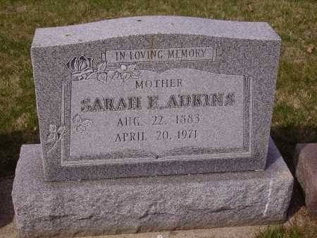 ADKINS, SARAH E. - Franklin County, Ohio | SARAH E. ADKINS - Ohio Gravestone Photos