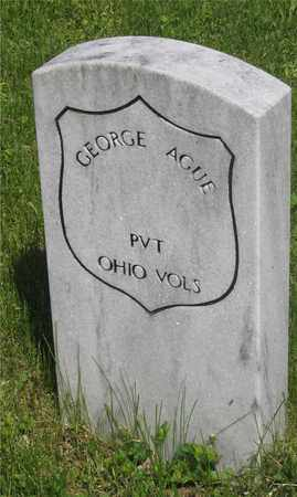 AGUE, GEORGE - Franklin County, Ohio | GEORGE AGUE - Ohio Gravestone Photos
