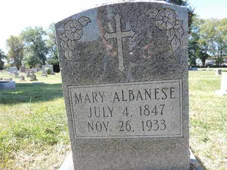 ALBANESE, MARY - Franklin County, Ohio   MARY ALBANESE - Ohio Gravestone Photos