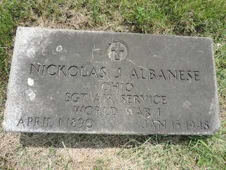ALBANESE, NICKOLAS J. - Franklin County, Ohio | NICKOLAS J. ALBANESE - Ohio Gravestone Photos