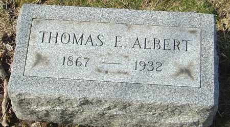 ALBERT, THOMAS E - Franklin County, Ohio | THOMAS E ALBERT - Ohio Gravestone Photos
