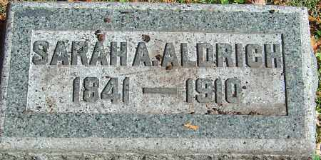 COULTER ALDRICH, SARAH ANN TAYLOR - Franklin County, Ohio | SARAH ANN TAYLOR COULTER ALDRICH - Ohio Gravestone Photos