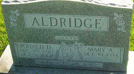ALDRIDGE, RONALD - Franklin County, Ohio | RONALD ALDRIDGE - Ohio Gravestone Photos
