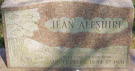ALESHIRE, JEAN - Franklin County, Ohio | JEAN ALESHIRE - Ohio Gravestone Photos