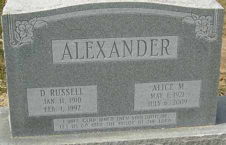 ALEXANDER, ALICE - Franklin County, Ohio | ALICE ALEXANDER - Ohio Gravestone Photos