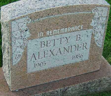 ALEXANDER, BETTY - Franklin County, Ohio | BETTY ALEXANDER - Ohio Gravestone Photos