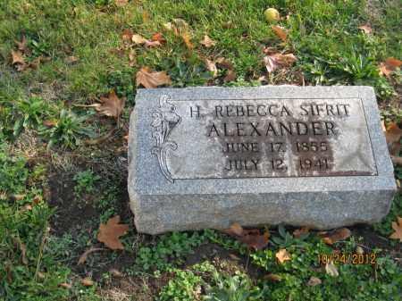 SIFRIT ALEXANDER, HANNAH REBECCA - Franklin County, Ohio | HANNAH REBECCA SIFRIT ALEXANDER - Ohio Gravestone Photos