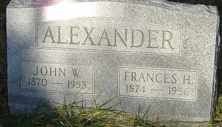 ALEXANDER, FRANCES H - Franklin County, Ohio | FRANCES H ALEXANDER - Ohio Gravestone Photos