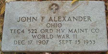 ALEXANDER, JOHN FRANK - Franklin County, Ohio | JOHN FRANK ALEXANDER - Ohio Gravestone Photos