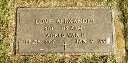 ALEXANDER, LOVE - Franklin County, Ohio | LOVE ALEXANDER - Ohio Gravestone Photos