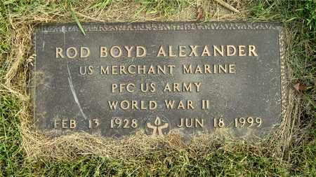 ALEXANDER, ROD BOYD - Franklin County, Ohio | ROD BOYD ALEXANDER - Ohio Gravestone Photos