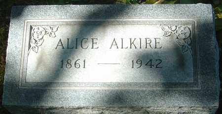 ALKIRE, ALICE - Franklin County, Ohio | ALICE ALKIRE - Ohio Gravestone Photos