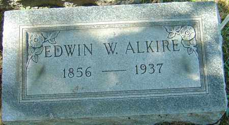 ALKIRE, EDWIN W - Franklin County, Ohio | EDWIN W ALKIRE - Ohio Gravestone Photos