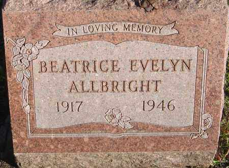ALLBRIGHT, BEATRICE EVELYN - Franklin County, Ohio | BEATRICE EVELYN ALLBRIGHT - Ohio Gravestone Photos