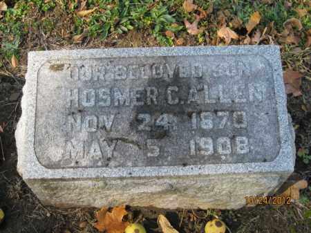 ALLEN, HOSMER COPELAND - Franklin County, Ohio | HOSMER COPELAND ALLEN - Ohio Gravestone Photos
