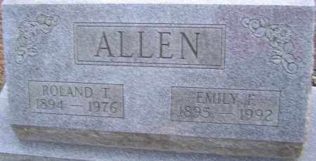 ALLEN, EMILY - Franklin County, Ohio | EMILY ALLEN - Ohio Gravestone Photos