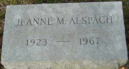 ALSPACH, JEANNE M - Franklin County, Ohio | JEANNE M ALSPACH - Ohio Gravestone Photos