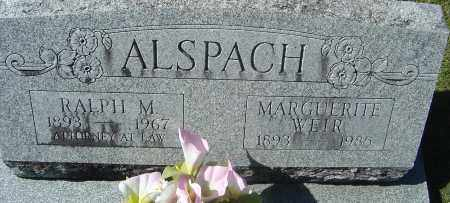 ALSPACH, RALPH M - Franklin County, Ohio | RALPH M ALSPACH - Ohio Gravestone Photos