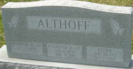 ALTHOFF, HELMA - Franklin County, Ohio | HELMA ALTHOFF - Ohio Gravestone Photos
