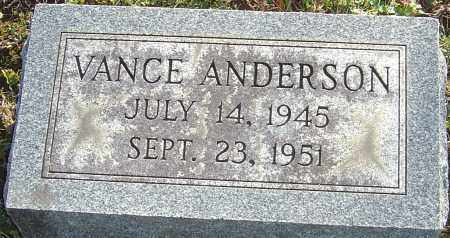 ANDERSON, ALBERT VANCE - Franklin County, Ohio | ALBERT VANCE ANDERSON - Ohio Gravestone Photos