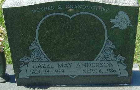 ANDERSON, HAZEL MAY - Franklin County, Ohio | HAZEL MAY ANDERSON - Ohio Gravestone Photos