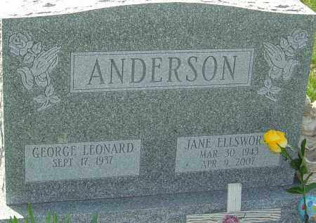 ELLSWORTH ANDERSON, JANE - Franklin County, Ohio | JANE ELLSWORTH ANDERSON - Ohio Gravestone Photos