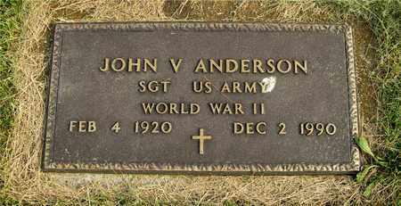 ANDERSON, JOHN V. - Franklin County, Ohio | JOHN V. ANDERSON - Ohio Gravestone Photos