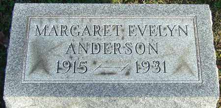 ANDERSON, MARGARET EVELYN - Franklin County, Ohio | MARGARET EVELYN ANDERSON - Ohio Gravestone Photos