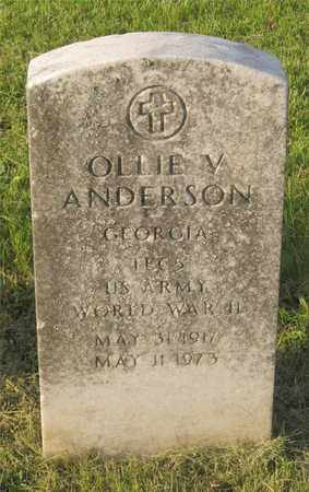 ANDERSON, OLLIE V. - Franklin County, Ohio | OLLIE V. ANDERSON - Ohio Gravestone Photos