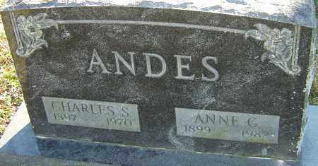 ANDES, ANNE - Franklin County, Ohio | ANNE ANDES - Ohio Gravestone Photos