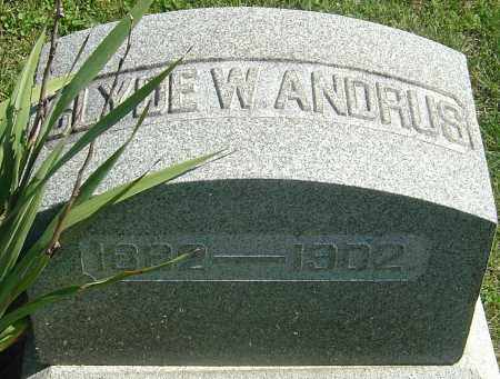 ANDRUS, CLYDE W - Franklin County, Ohio | CLYDE W ANDRUS - Ohio Gravestone Photos