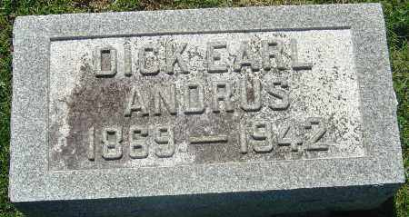 ANDRUS, DICK EARL - Franklin County, Ohio | DICK EARL ANDRUS - Ohio Gravestone Photos
