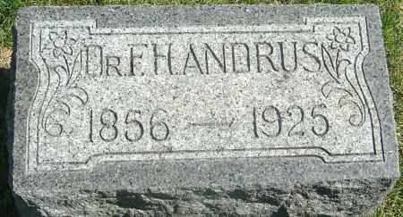 ANDRUS, FRANK HERMAN - Franklin County, Ohio | FRANK HERMAN ANDRUS - Ohio Gravestone Photos